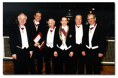 Convocation (left to right) Laureate Ernest R. Wish, Laureate Michael Beschloss, Laureate Louis