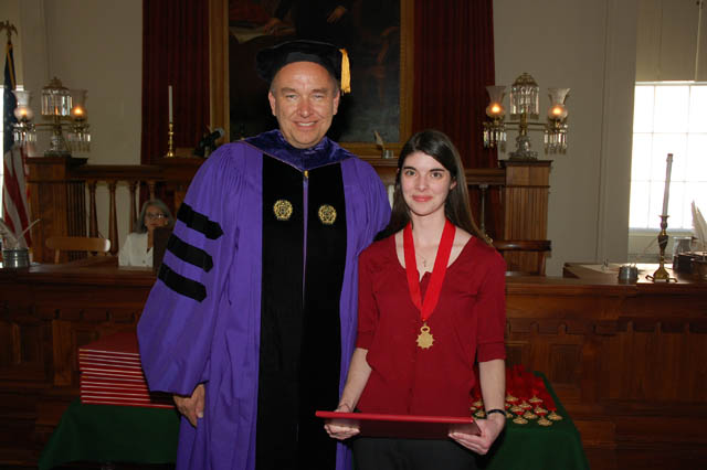 Augustana College, Jessica Kamp - with President Steven Bahls