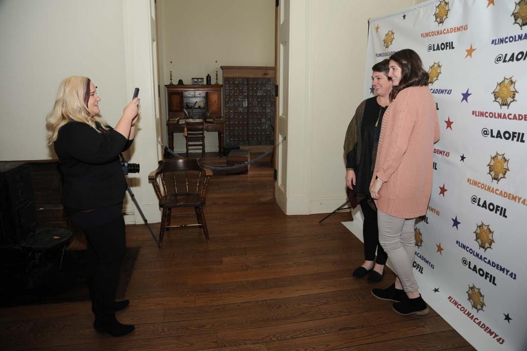 Lauren Davis photographs Faythe Reyhan Newberry, MacMurray College, with guest