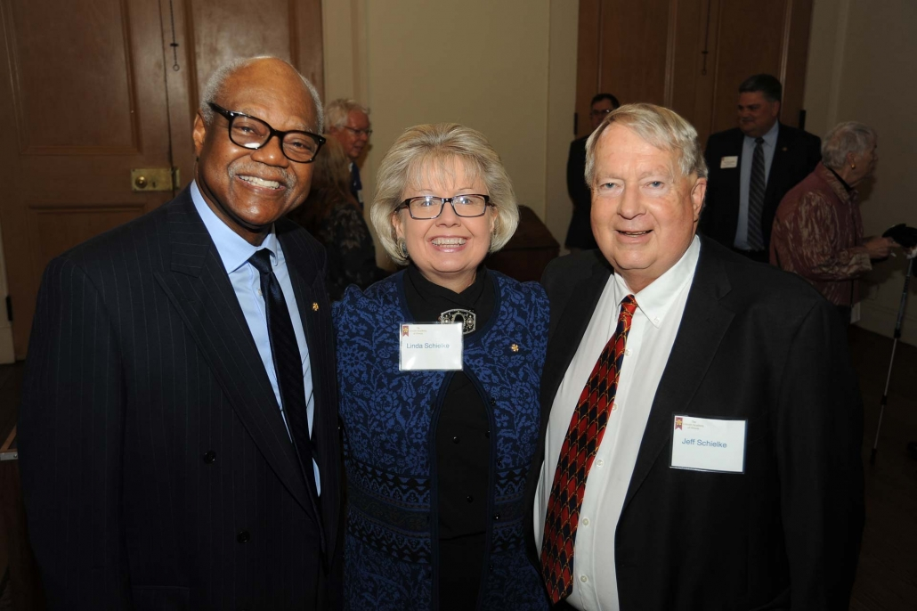 Frank Clark with Linda and Jeff Schielke