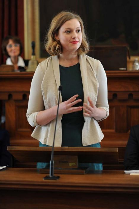 Samantha Ann Boomgarden, Eastern Illinois University speaking on behalf of the Student Laureates