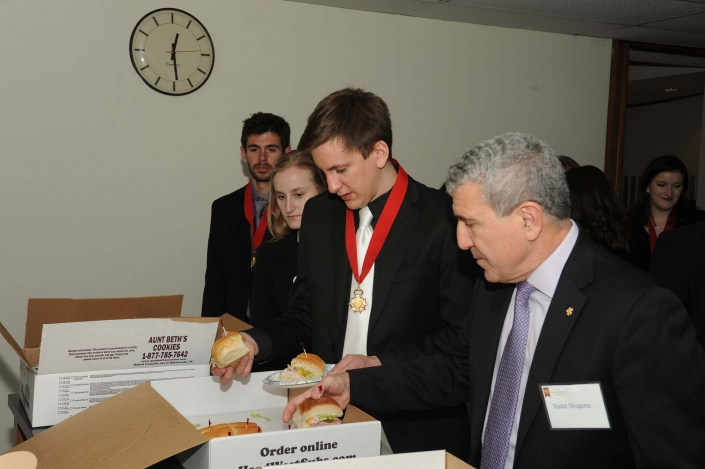 Student Laureates at lunch