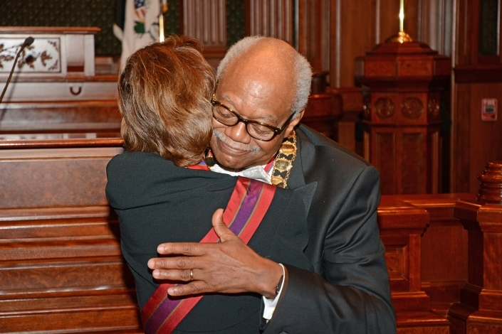 Marshall Clark hug